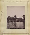 Millenniumi kiállítás, hajóhíd és hőlégballon. - Budapest XIV. Fortepan 82745.jpg
