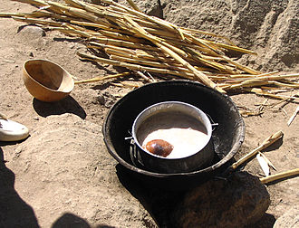 Millet beer - Millet beer in Rhumsiki, Far North Province, Cameroon