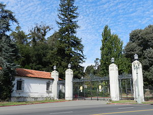 Seminary, Oakland, California - Entrance to Mills College, Seminary Avenue