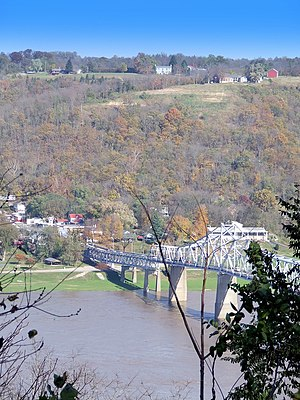Milton, Kentucky - Madison, Indiana as seen from Milton, Kentucky