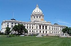 Vista del Capitolio Estatal de Minnesota, en Saint Paul.