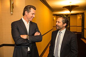 Gavin Newsom - Newsom (left) in 2013