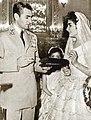 Mohammad Reza Shah in Princess Shahnaz weeding 3.jpg