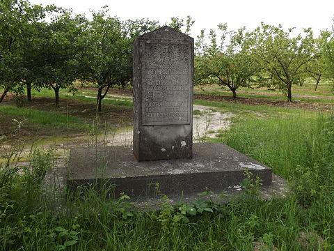 Pomnik we wsi Mokre upamiętniający walkę oddziału partyzanckiego Batalionów Chłopskich dowodzonego przez Piotra Pawlinę