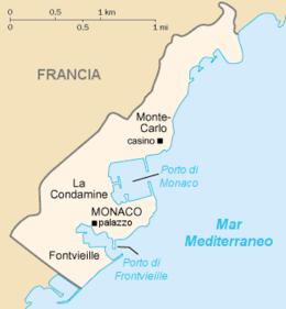 Monaco - Mappa