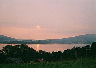 Mondsee (lake) - Image: Mondsee evening