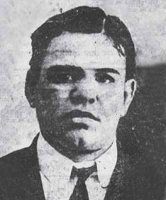Whyos - NYPD 1903 police mugshot of Monk Eastman the leader of the Eastman Gang who was one of many gangsters who helped destroy the Whyos Gang