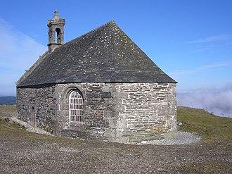 Parc naturel régional d'Armorique - View of chapel of Saint-Michel at Mont Saint-Michel de Brasparts, in the Monts d'Arrée, in Parc naturel régional d'Armorique