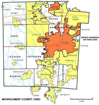 Montgomery County, Ohio - Image: Montgomerytownships