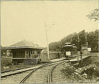 Streetcars in Montreal - View of the Montreal Park and Island, circa 1895