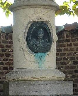 Reliëf met portret van Motké op het monument in Thorn