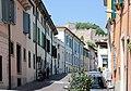 Monzambano, the Via Cavour, view to the castle.jpg
