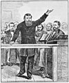 Moody preaching at the Hippodrome in New York City, 1876 (Hold the Fort!, Scheips).jpg