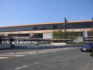 Morioka Station - Morioka Station east entrance in May 2006