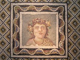 Mosaïque - Buste de Dionysos - Palazzo Massimo