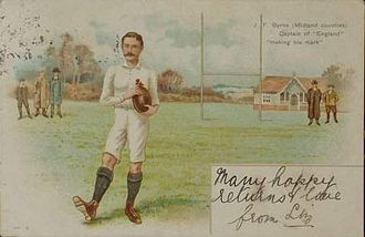 Birmingham Moseley Rugby Club - Moseley and England captain J. F. Byrne c1900