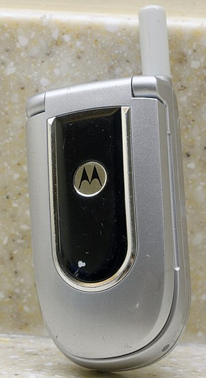 Flip (form) - A Motorola flip phone, closed