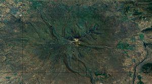 Mount Aragats - Mount Aragats, topographic representation