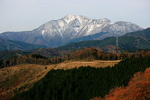 Mount Ibuki - Image: Mount Ibuki from Mount Ikeda