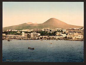 Torre del Greco e il Vesuvio tra il 1890 e il 1900