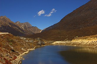 Arunachal Pradesh - A kettle lake at Se La  in  Tawang district.