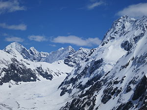 Aoraki/Mount Cook National Park - Upper Mueller Glacier, from Mueller Hut
