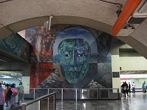 Metro Tacubaya - Image: Mural Metro Tacubaya Mask