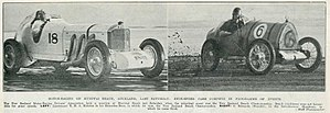 Motor sport in New Zealand - Racing cars at Muriwai Beach in May 1935