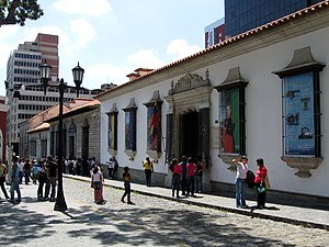 Bolivarian Museum - The facade of the Bolivarian Museum. Bolívar's birthplace is visible on the left.