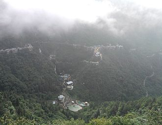 Mussoorie - Mussoorie view from the top of the hill (can be viewed while traveling on the way towards down of the hill)