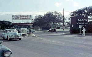 Naval Air Station Barbers Point - Gate at Naval Air Station Barber's Point as it appeared in December 1958