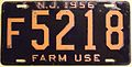 NEW JERSEY 1956 -FARM TRUCK LICENSE PLATE - Flickr - woody1778a.jpg