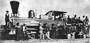 2-6-0 - The engine ''Pietermaritzburg'', c. 1878