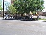 NM Unions Protest John McCain at Hotel Albuquerque (2672897901).jpg