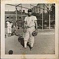 NY Yankee's John Malangone stands poses for photo in front of the original Yankee stadium during the 1950's.jpg