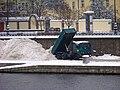 Na Františku, úložiště sněhu, nákladní auto.jpg