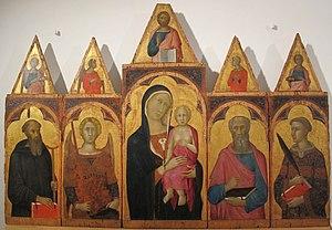 Naddo Ceccarelli - Image: Naddo ceccarelli, madonna e santi, 1347 ca