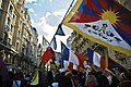 National Flags of France and Tibet in March 2008 Free Tibet Movement in Paris 2008年3月巴黎自由西藏運動之法國與圖博國旗 (雪山獅子旗).jpg
