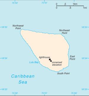 Carta de la isla de Navassa