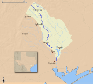 Navidad River - Map of the Navidad River and associated watershed
