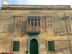 Nazju Falzon - Nazju Falzon Palace - his house in Birkirkara.