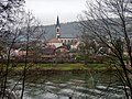 Neckargerach vom Neckartal-Weg, Odenwald-Madonnen-Weg, 3 Länder-Radweg, Burgenstraße, Paneuropa-Radweg, 3 Täler Radweg, Kurpfalzachse - panoramio.jpg