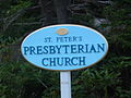 Neils Harbour Presbyterian Church sign.jpg