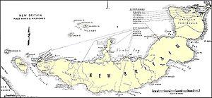 New Britain campaign - Image: New Britain WW2 map