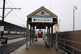 Riverfront Streetcar Line - Typical streetcar station design throughout the Riverfront line