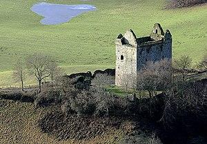 Newark Castle, Selkirkshire - Newark Tower ruins