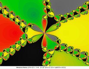 Newton fractal - Image: Newton z 6 z 3.jmb