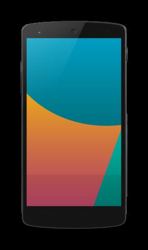 Nexus 5 - Front view of the Nexus 5