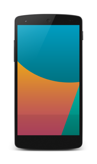 Nexus 5 - Front view of the Nexus 5