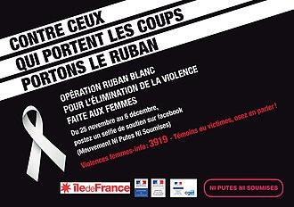 Ni Putes Ni Soumises - Ni Putes Ni Soumises White Ribbon Campaign poster